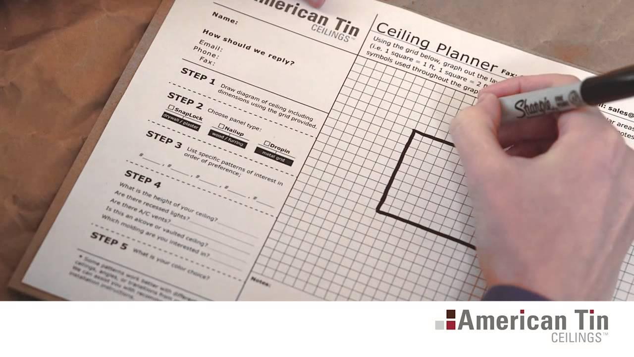 Measuring For Drywall Amp Popcorn Tin Ceiling Tiles 2 3