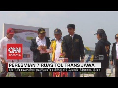 Jokowi Resmikan Tol Trans Jawa, Surabaya-Jakarta