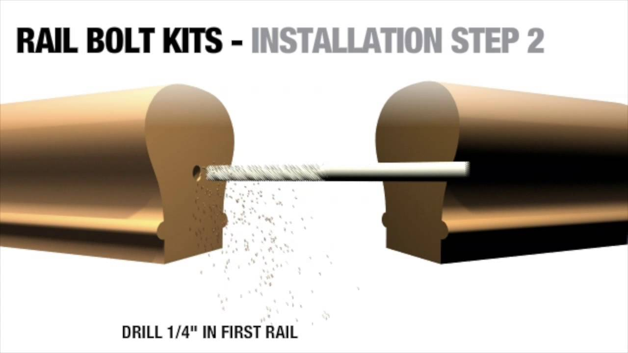 Connecting Stair Rails With Surewood Lnl Rail Bolt Kits