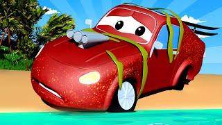 Tom la Grúa - Jerry el Carro de Carreras Inunda su Motor - Auto City | Dibujos animados para niños