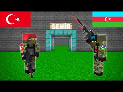 TÜRK ASKERİ VE AZERBAYCAN ASKERİ ŞEHRE GELDİ! 😱 - Minecraft