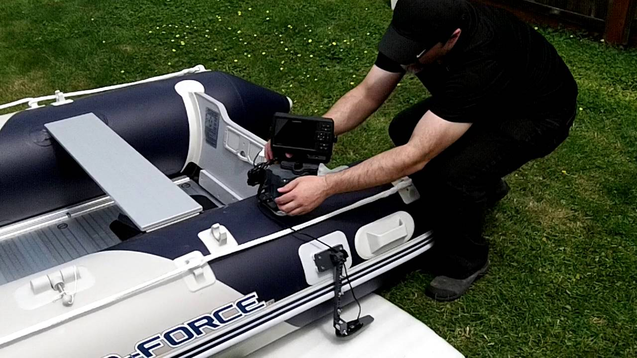 Fish Finder Mounts Glue On Mounting System For Inflatable