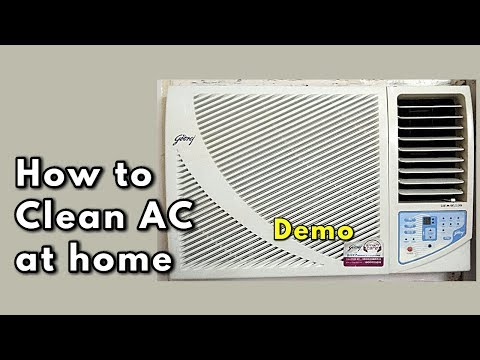How to Clean AC at home / Window AC Cleaning / Air Conditioner Maintenance Tips / Demo -Monikazz DIY