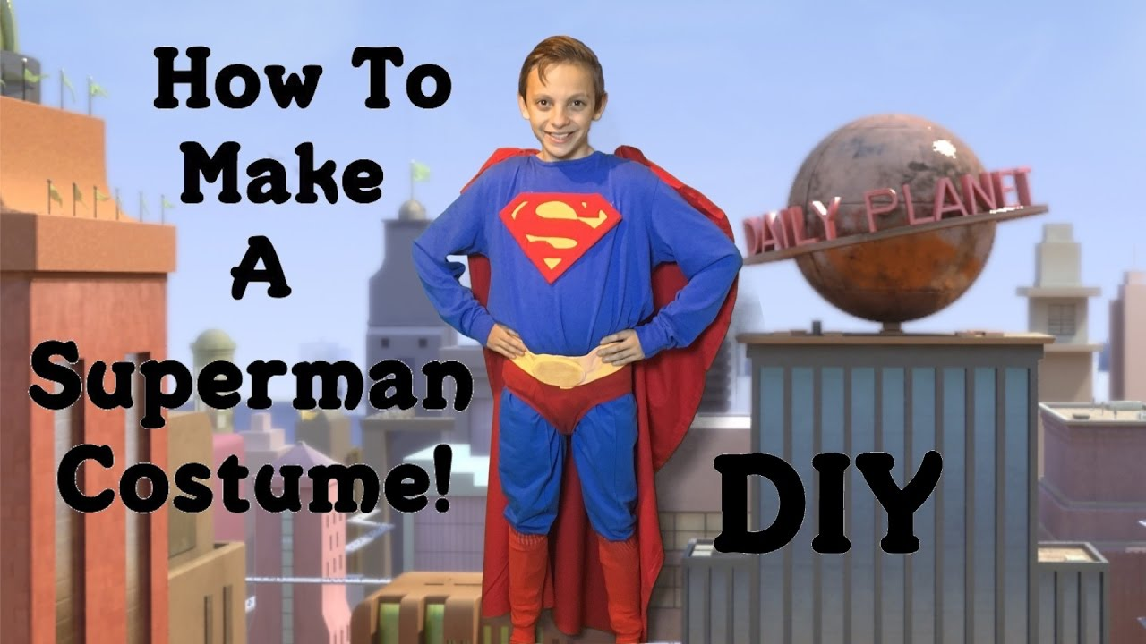 Make Your Own Superman Costume Diy