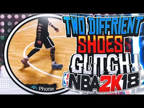 NBA 2K18 TWO DIFFERENT SHOES GLITCH! | HOW TO WEAR 2 DIFFERENT SHOES IN YOUR MYPLAYER AFTER PATCH 5!