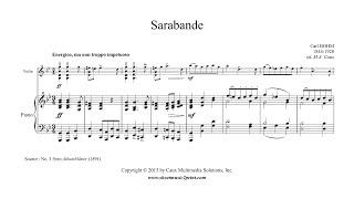 Bohm : Sarabande in G minor - Violin