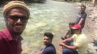 Mobile almost felt into the river, but saved. Taobat Bridge, Neelum Valley, Kashmir