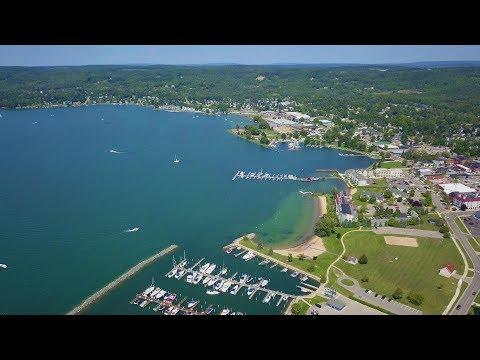 Beautiful Lake Charlevoix - Boyne City, MI - DJI Mavic Pro 4K Drone