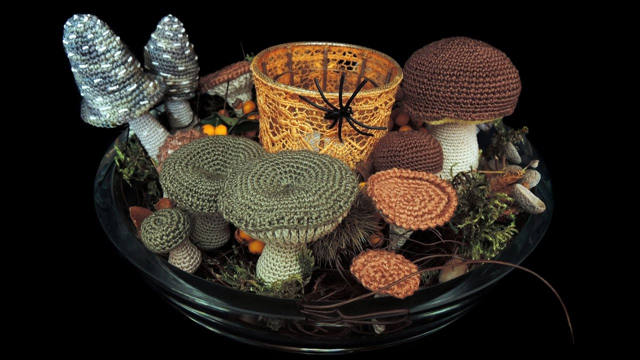 Halloween Deko Pilze Häkeln Crochet Mushrooms Youtube