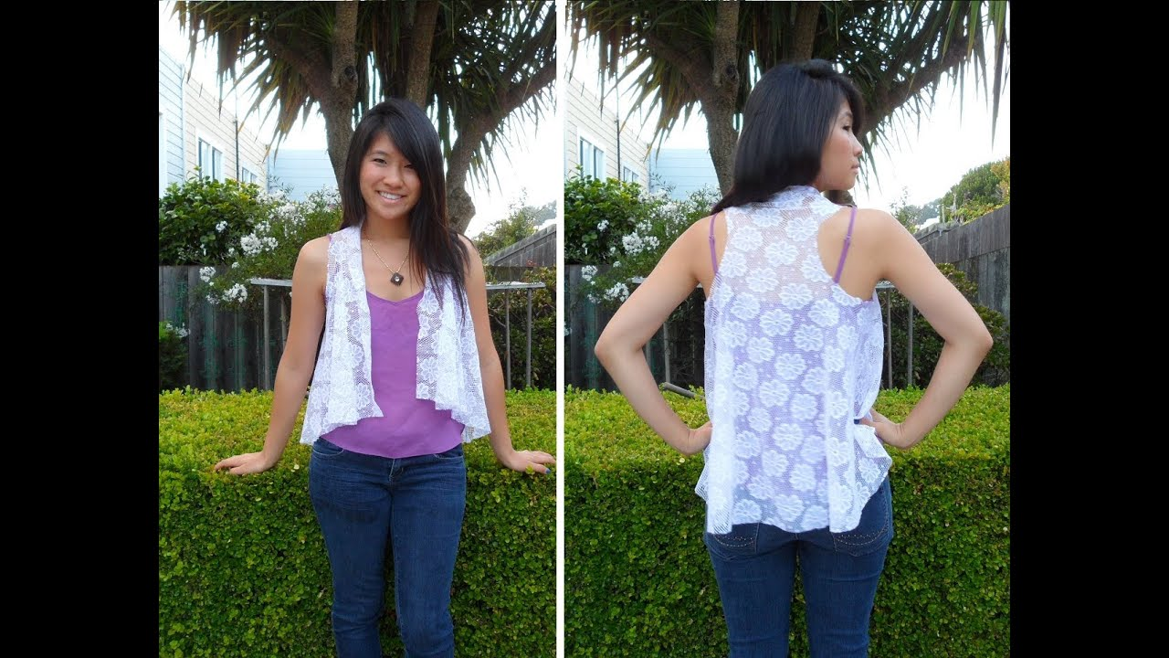 DIY: How to Make a Lace Cardigan (Easy & Simple) - YouTube