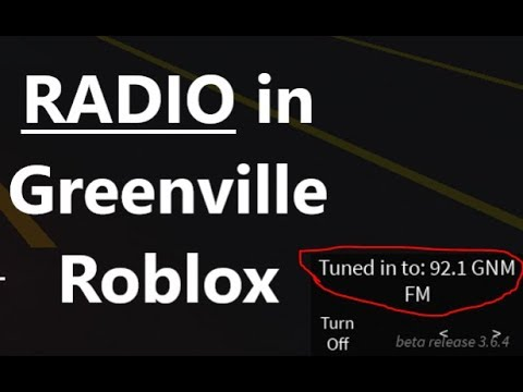 RADIO IN GREENVILLE ROBLOX (all cars)