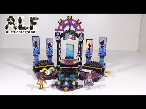 Lego Friends 41105 Pop Star Show Stage / Popstar Showbühne - Lego Speed Build Review