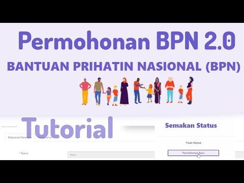 Permohonan Bantuan Prihatin Nasional Bpn 2 0 Youtube