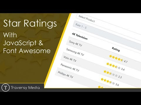Star Ratings With JavaScript & Font Awesome