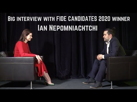 Interview with Ian Nepomniachtchi (in English, with Russian subtitles)