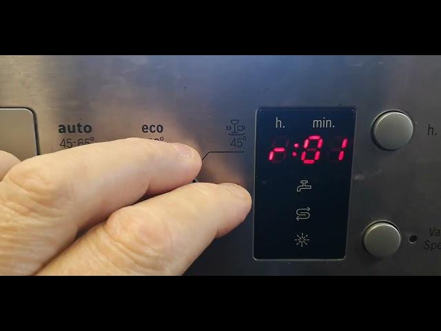 Bosch beépíthető mosogatógép beállítások (SPI50E15EU/17 )