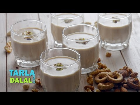 Dry Fruit Milkshake by Tarla Dalal