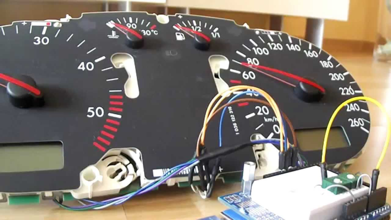 vw golf 4 tachometer on arduino [ 1280 x 720 Pixel ]