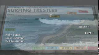 Kelly Slater - Trestles World Tour Of Surfing 2010 - Round 1 Heat 6