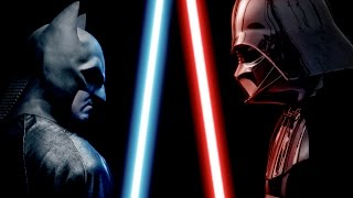 BATMAN vs DARTH VADER - ALTERNATE ENDING - Super Power Beat Down thumbnail