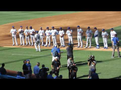 2016 Los Angeles Dodgers Old Timers Game intros