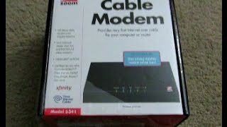 Unboxing Review of the Zoom Cable Modem Model 5341