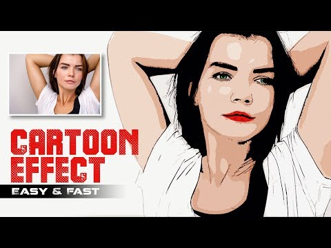 How to Change Photos to Vector Cartoon Easily in Photoshop Without Pen Tool | Photoshopdesire.com