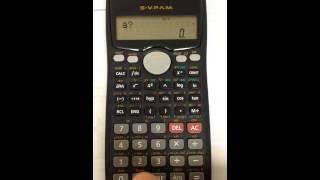 Resolución de Ecuaciones cúbicas, grado 3, con calculadora Casio fx-570MS