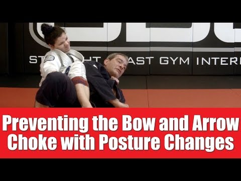 Defending Against The Bow And Arrow Choke Using Postural Changes   BJJ with Coach Cane