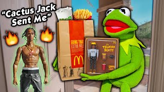 Kermit the Door Salesman Gets LIT Selling Travis Scott Burgers!
