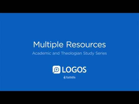 Multiple Resources • Logos 8