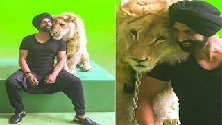 Singh Is Bling | Akshay Kumar Shoots With Real Lion
