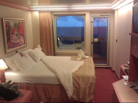 Carnival Glory Aft View Extended Balcony Room Tour