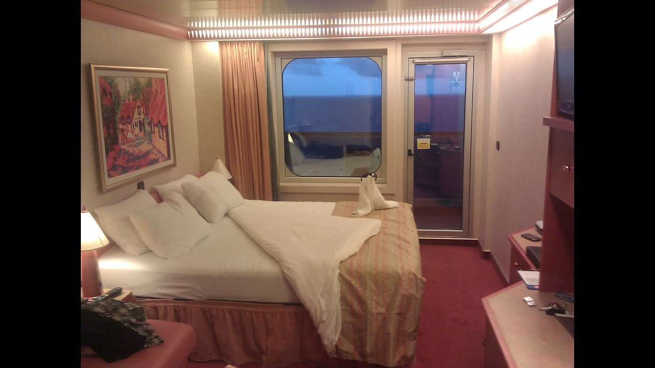 Carnival glory aft view extended balcony room tour youtube for Balcony in cruise ship