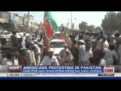 CNN Coverage of CODEPINK Stop Drones Delegation in Pakistan