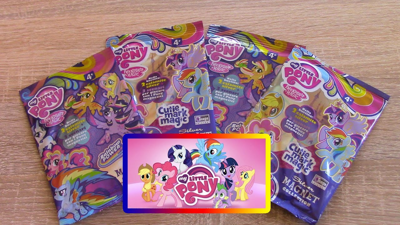 My Little Pony Silver Magnet Cutie Mark Magic Mlp Blind Bags