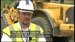 Volvo hos kund: L180F hjullastare hos SKANSKA, lastmaskiner, wheel loaders)