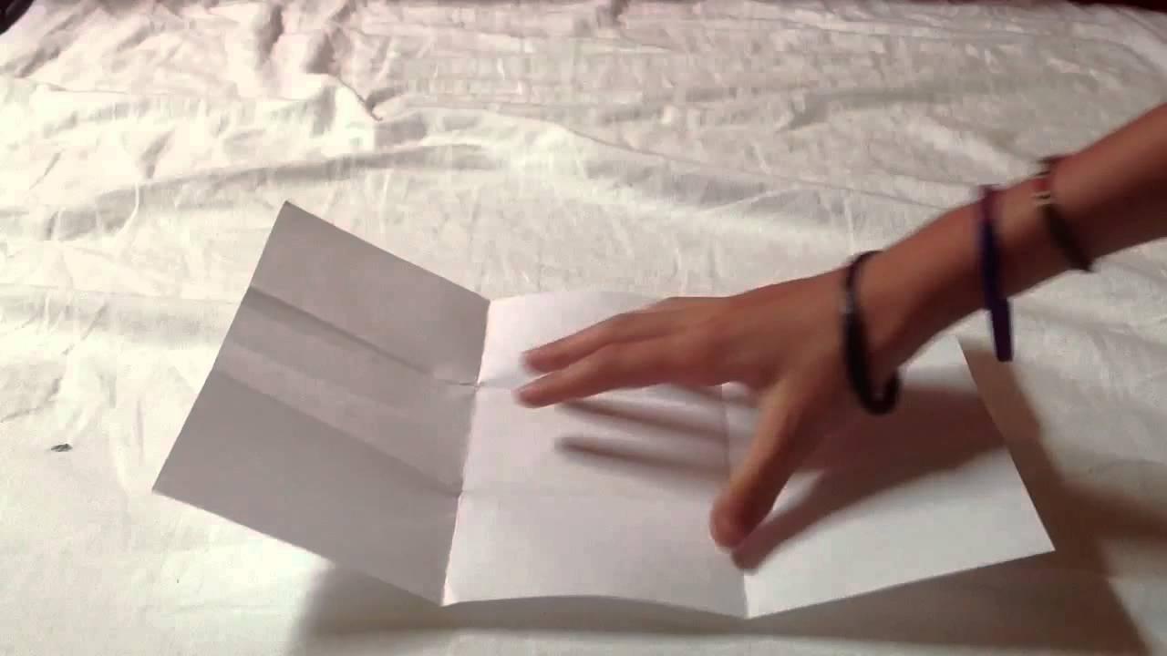 Coment faire un tour de magie avec une feuille et une - Faire une enveloppe avec une feuille ...
