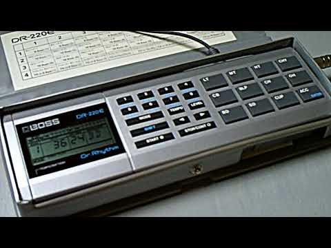 Boss DR-220 E drum machine demo (1986, real sound, no circuit-bending)