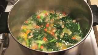 How To Make Kale & Bean Soup