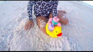 Sand Castles Surprises Peppa Pig Family Fun Riding Rubber Duckie Sandestin Florida | Toys Academy
