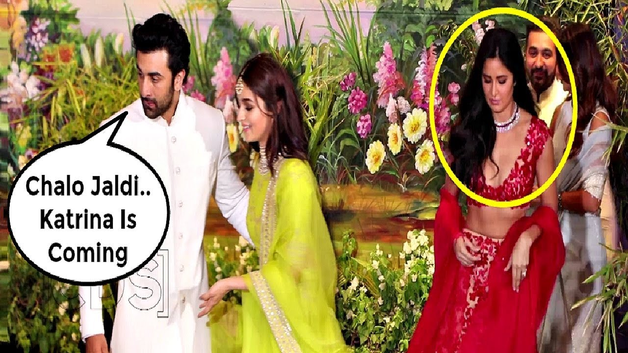Ranbir Kapoor Ignores Ex-Girlfriend Katrina Kaif At Sonam Kapoor Wedding Reception