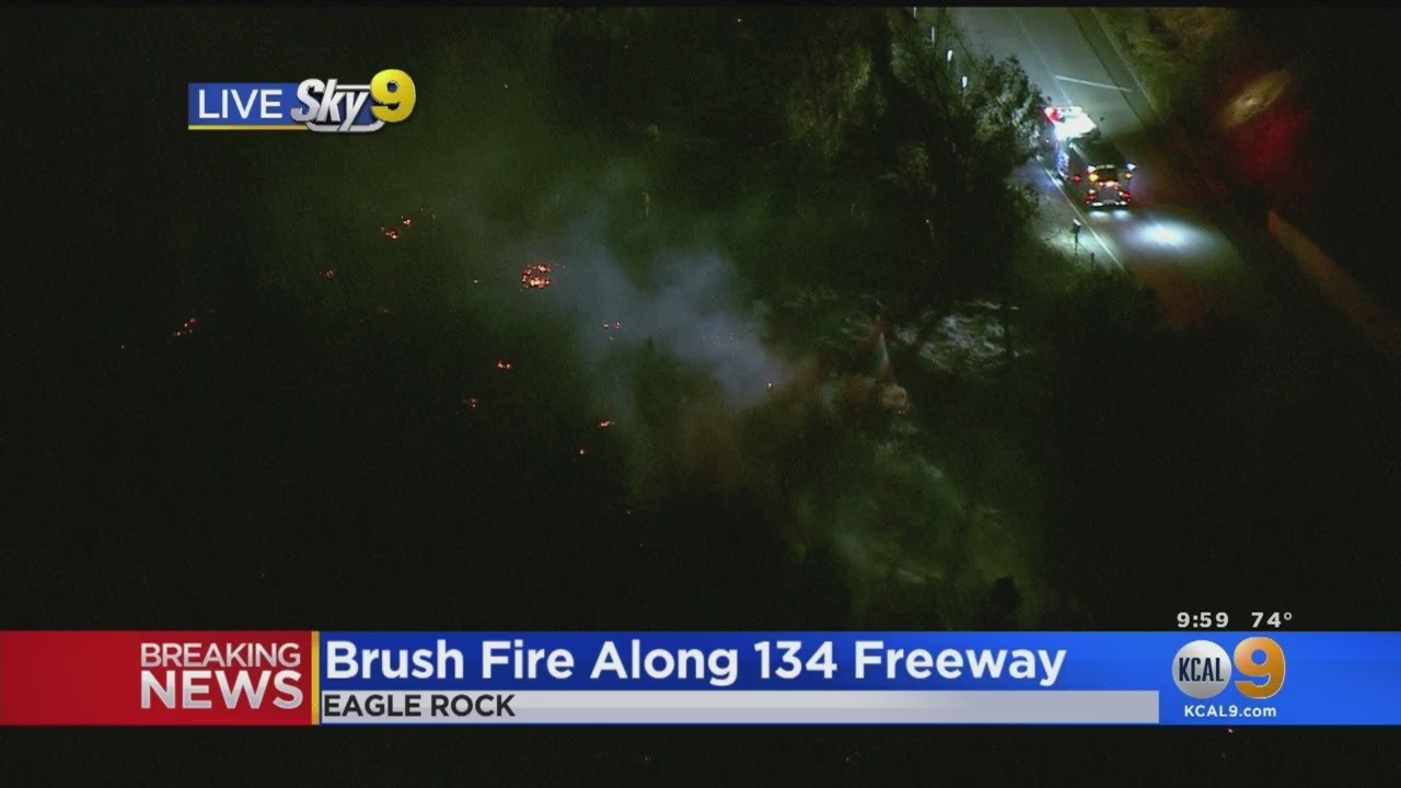 Mandatory Evacuations Lifted For Homes Along The 134 Freeway