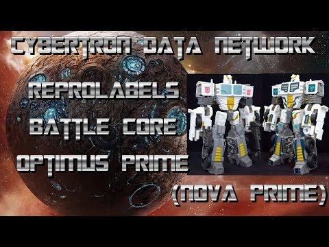 Reprolabels Battle Core Optimus Prime (Nova Prime)