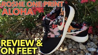 WMNS Roshe One Print Review & On Feet | Aloha