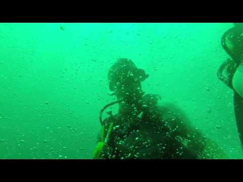 Drift dive, caught in down current.