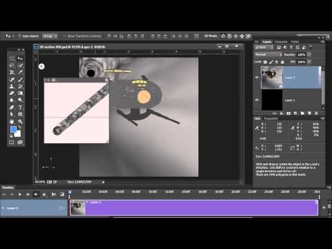Simulated Motion on 3D Objects in Photoshop CC