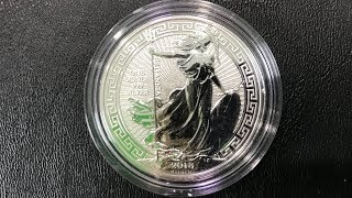 2018 Great Britain 1 oz Silver Britannia Oriental Border Review