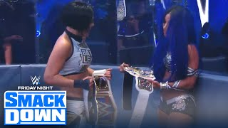 Sasha Banks and Bayley win WWE Women's Tag Team Championship | FRIDAY NIGHT SMACKDOWN