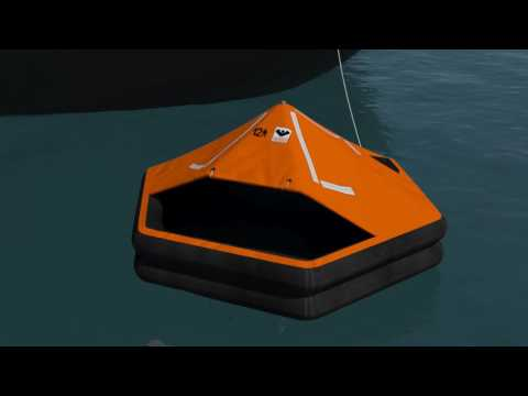 VIKING Throw Overboard Liferaft 3D Instructions